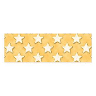 Modelo de las galletas de la estrella Amarillo de Tarjeta De Visita