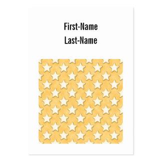 Modelo de las galletas de la estrella. Amarillo de Plantilla De Tarjeta De Visita