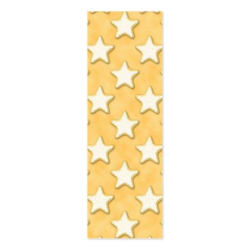 Modelo de las galletas de la estrella. Amarillo de Plantillas De Tarjetas De Visita