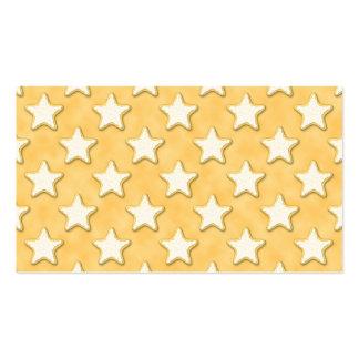 Modelo de las galletas de la estrella. Amarillo de Tarjetas De Visita