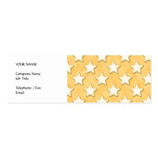 Modelo de las galletas de la estrella. Amarillo de Tarjetas De Visita Mini