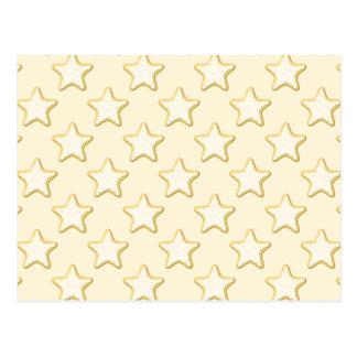 Modelo de las galletas de la estrella. Crema y ama Tarjeta Postal