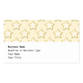 Modelo de las galletas de la estrella. Crema y Tarjetas De Visita