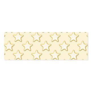 Modelo de las galletas de la estrella. Crema y Tarjetas De Visita Mini