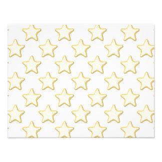 Modelo de las galletas de la estrella En blanco Comunicados Personalizados