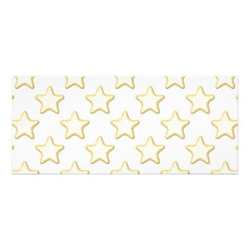 Modelo de las galletas de la estrella. En blanco Invitacion Personal