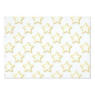 Modelo de las galletas de la estrella. En blanco Invitación 12,7 X 17,8 Cm