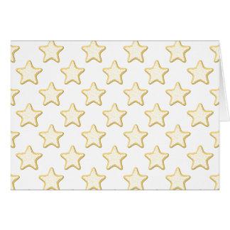 Modelo de las galletas de la estrella. En blanco Tarjeta Pequeña