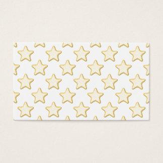 Modelo de las galletas de la estrella. En blanco Tarjeta De Negocios