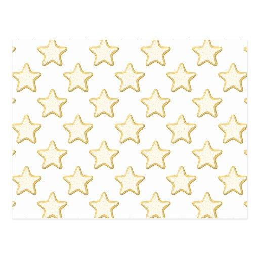 Modelo de las galletas de la estrella. En blanco Tarjeta Postal