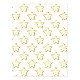Modelo de las galletas de la estrella. En blanco Postal