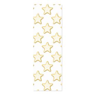 Modelo de las galletas de la estrella. En blanco Tarjeta Personal