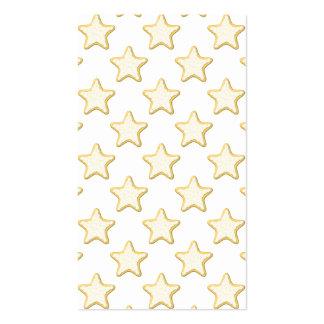 Modelo de las galletas de la estrella En blanco Plantilla De Tarjeta De Negocio