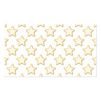 Modelo de las galletas de la estrella. En blanco Tarjetas De Visita