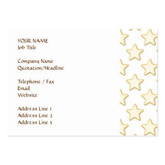 Modelo de las galletas de la estrella. En blanco Tarjetas De Visita Grandes