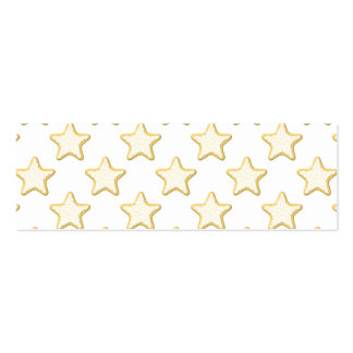 Modelo de las galletas de la estrella. En blanco Tarjetas De Visita Mini