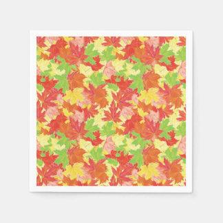 Modelo de las hojas de otoño servilleta desechable