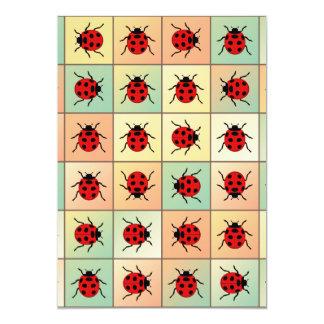 Modelo de las mariquitas invitación 12,7 x 17,8 cm