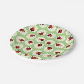 Modelo de las mariquitas plato de papel