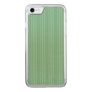 Modelo de las rayas verticales de la verde menta funda para iPhone 8/7 de carved