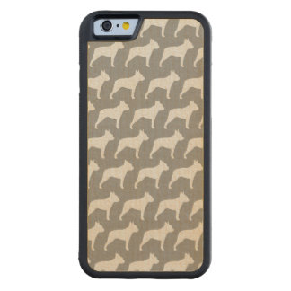 Modelo de las siluetas de Boston Terrier Funda Protectora De Arce Para iPhone 6 De Carved