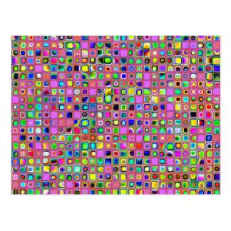 Modelo de las tejas de mosaico de las rosas postal