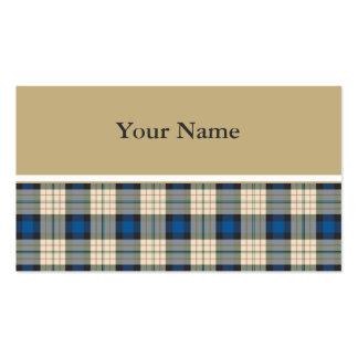 Modelo de las telas escocesas de tartán - beige tarjetas de visita