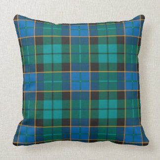 Modelo de las telas escocesas de tartán - verde cojín