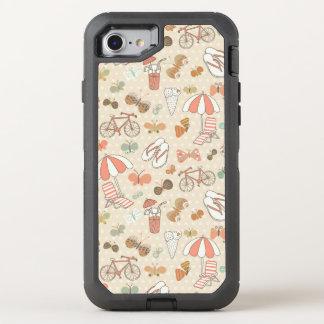 Modelo de las vacaciones de verano funda OtterBox defender para iPhone 8/7