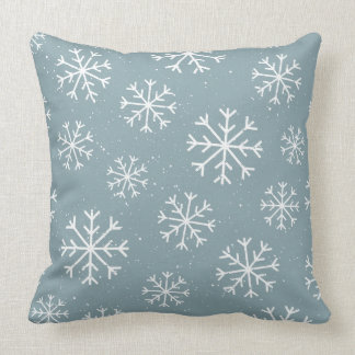 Modelo de los copos de nieve - regalos del navidad cojín decorativo
