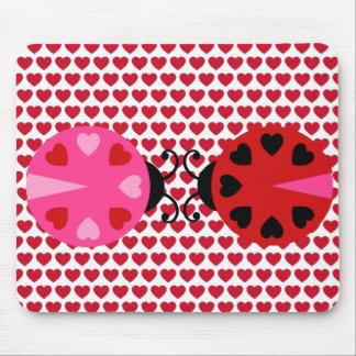 Modelo de los corazones del día de San Valentín as Alfombrilla De Ratón