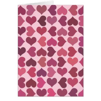 Modelo de los corazones tarjeta de felicitación