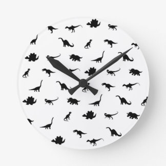 Modelo de los dinosaurios reloj redondo mediano