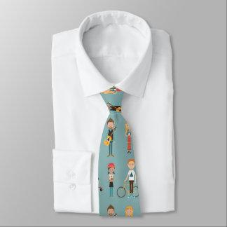 Modelo de los ejemplos de la gente del dibujo corbata personalizada