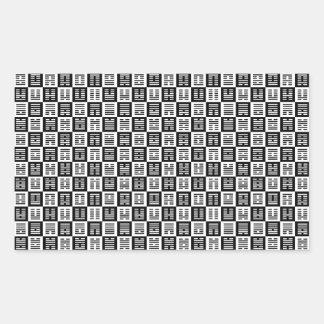 Modelo de los Hexagrams Pegatina Rectangular