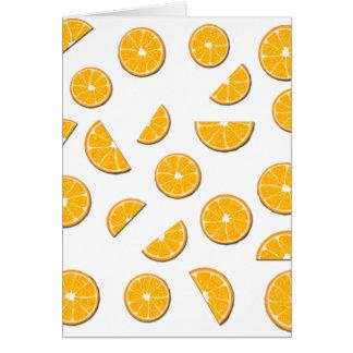 Modelo de los naranjas tarjeta de felicitación