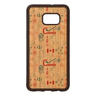 Modelo de los símbolos de Canadá el | Fundas De Madera Para Samsung S6 Edge Plus