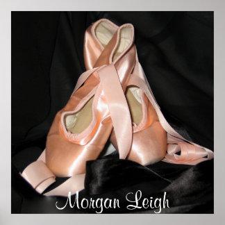 Modelo de los zapatos de ballet póster