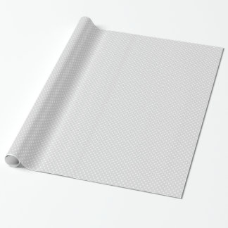 Modelo de lunar blanco gris claro papel de regalo
