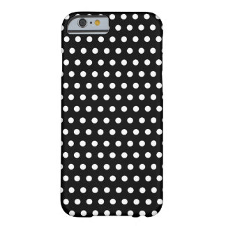 Modelo de lunar blanco y negro. Manchado Funda Para iPhone 6 Barely There