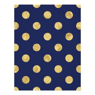 Modelo de lunar elegante de la hoja de oro - oro y