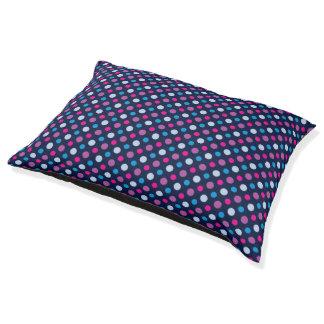 Modelo de lunar rosado azul y magenta cama para mascotas