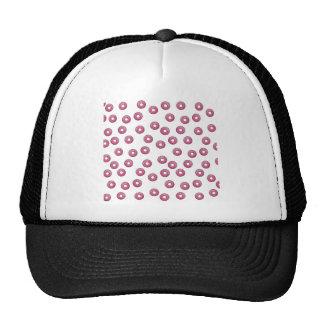 Modelo de lunar rosado del buñuelo - panadería gorras de camionero