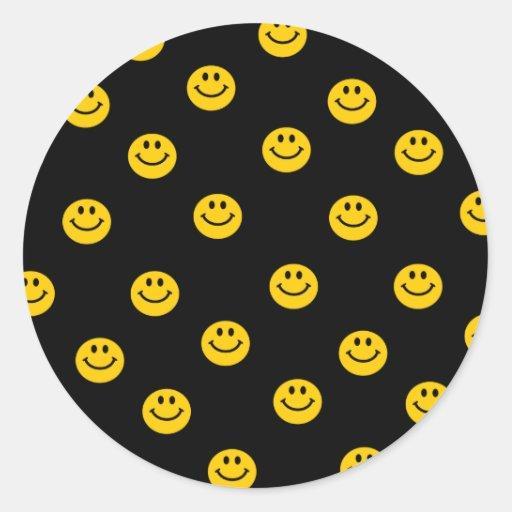 Modelo de lunar sonriente amarillo pegatina