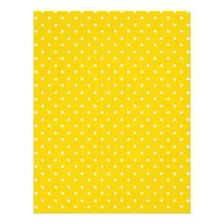 Modelo de lunares amarillo y blanco tarjetas publicitarias