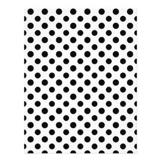 Modelo de lunares blanco negro tarjetas publicitarias