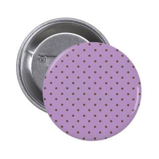 Modelo de lunares de la violeta africana y de chapa redonda de 5 cm