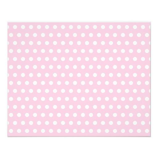 Modelo de lunares rosado y blanco tarjeta publicitaria
