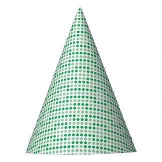 Modelo de lunares verde gorro de fiesta