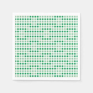 Modelo de lunares verde servilleta de papel